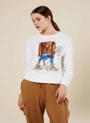 Coral Sweatshirt Ekru